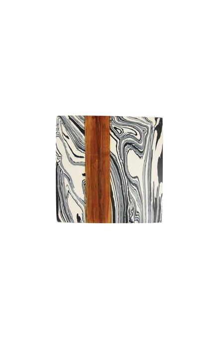 Be Home Marble Coaster Set - Zebra