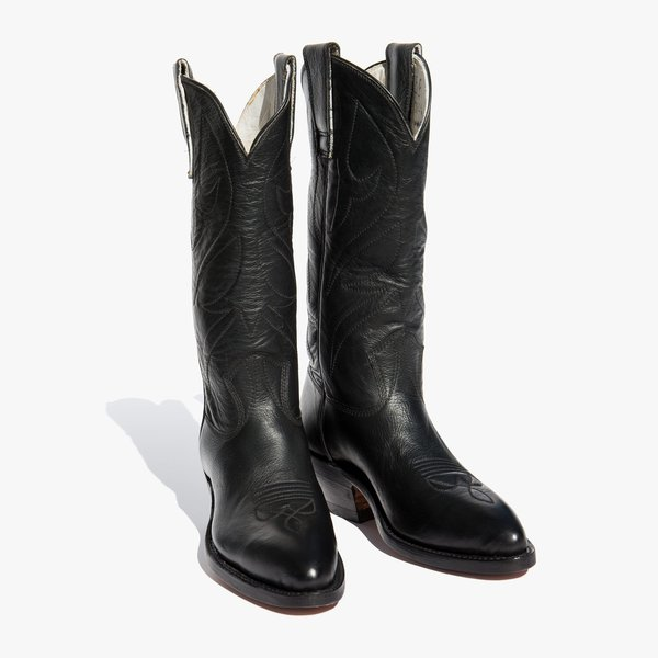 17e8fc1febd Kindred Black Stewart Boots 0124 Classic Cowboy Boot - Black ...