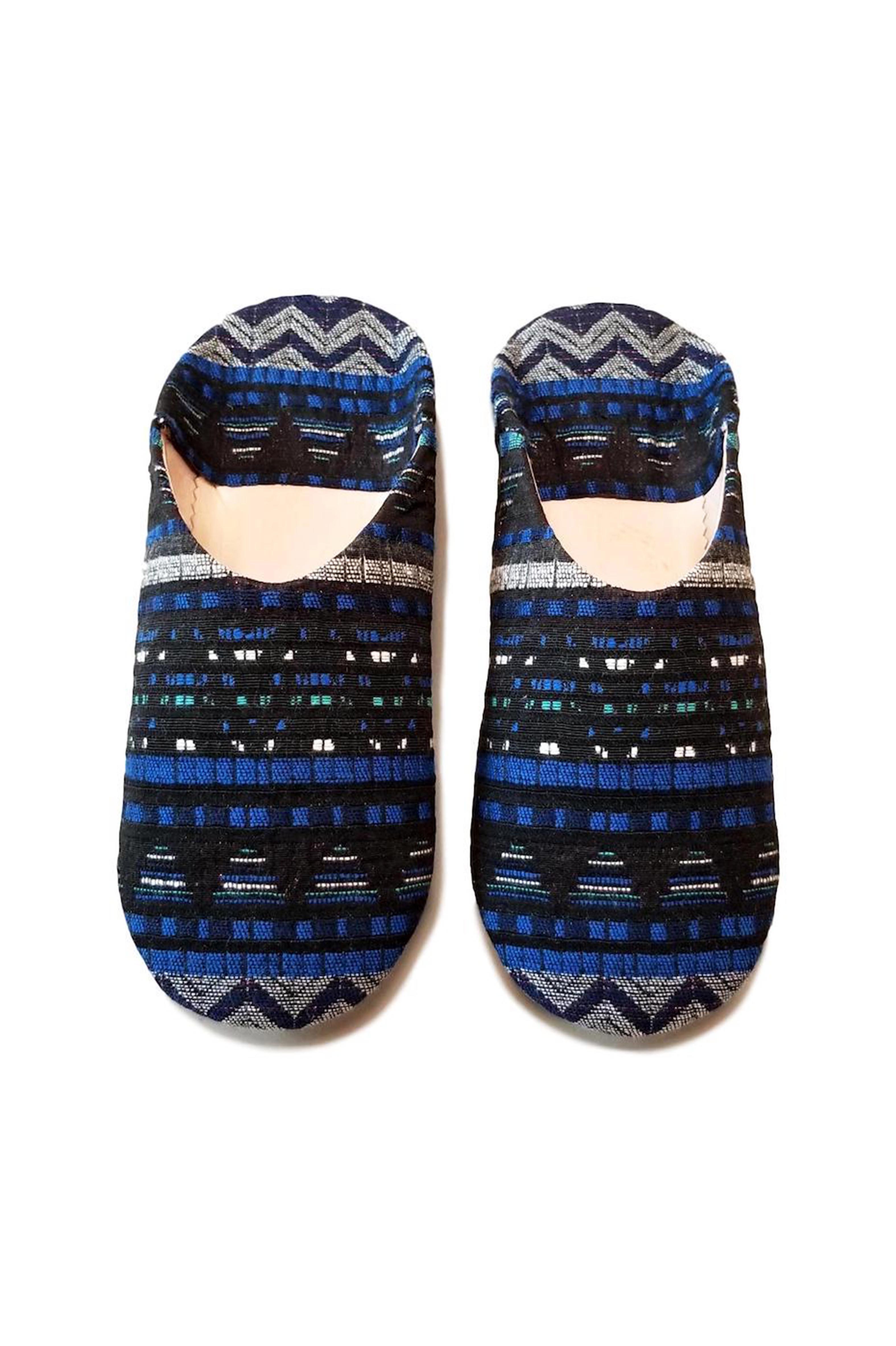 3350de8054af9 Socco Jay Moroccan Babouche Slipper - Blue