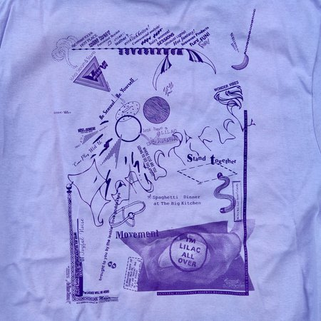 unisex die blaue distanz LA Edition LILA-X-BASE Memorial T-Shirt