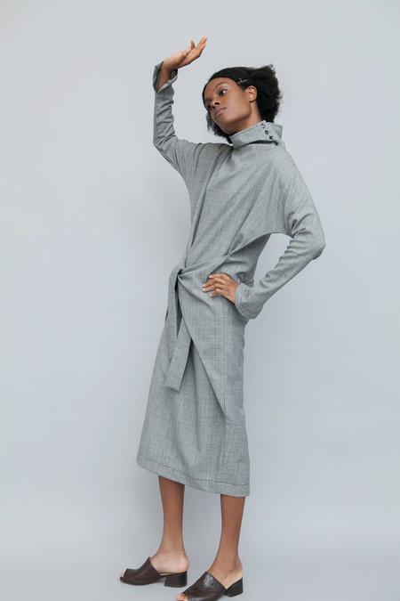 Lera Pivovarova Lamar Wool Dress - Grey