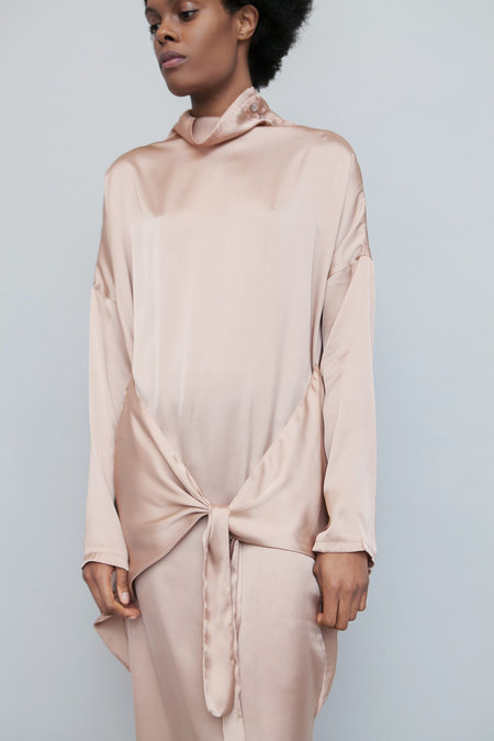 Lera Pivovarova Lamar Silk Dress - Nude