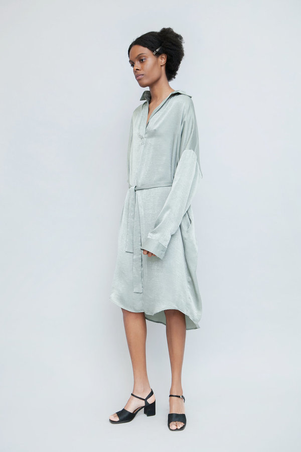 Lera pivovarova lamar silk shirt dress