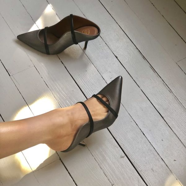 f5c04bcff6 Malone Souliers Maureen mid-heel Mules - Metallic | Garmentory