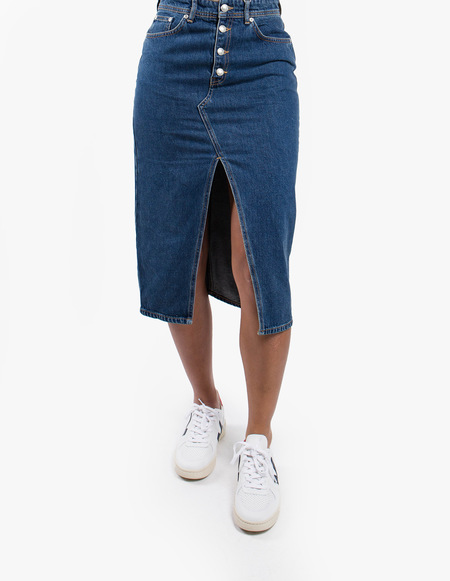 Won Hundred Anna Denim Skirt - Medium Blue
