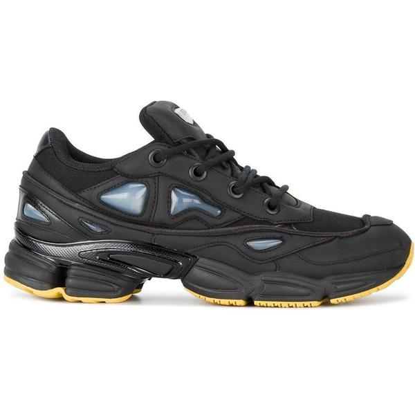 1956d6bb9470 ADIDAS X RAF SIMONS Black Ozweego III Trainers - Black Yellow ...