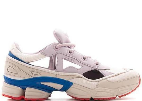 adidas by Raf Simons white, red and blue Ozweego Sneakers