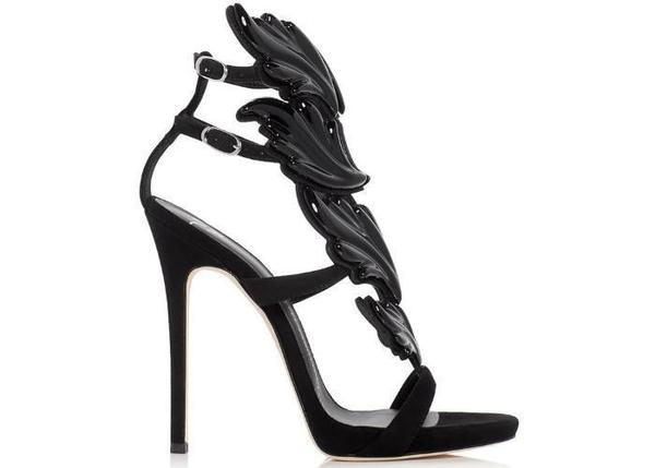 e8db7a599d60a Giuseppe Zanotti Coline Cruel Wing High Heel Sandals - Black ...