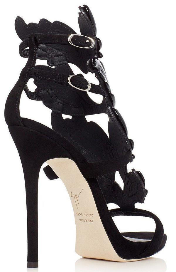 03e3b8dcdda Giuseppe Zanotti Coline Cruel Wing High Heel Sandals - Black.  1595.00. Giuseppe  Zanotti