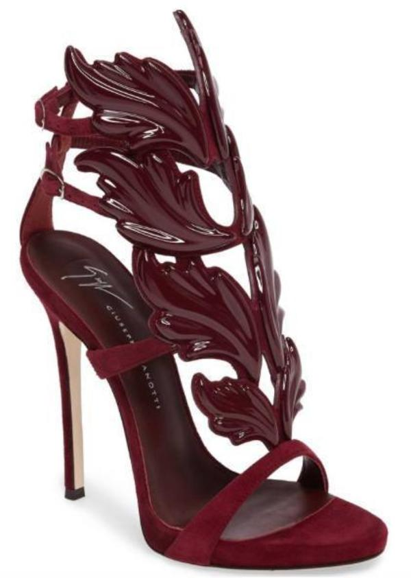 0eaf9839a56 Giuseppe Zanotti Coline Cruel Wing High Heel Sandals - Burgundy.  1595.00. Giuseppe  Zanotti