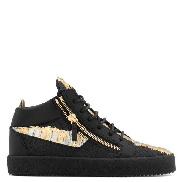 896859adade6d Giuseppe Zanotti Kriss Metallic High Top Sneaker - Black/Gold ...
