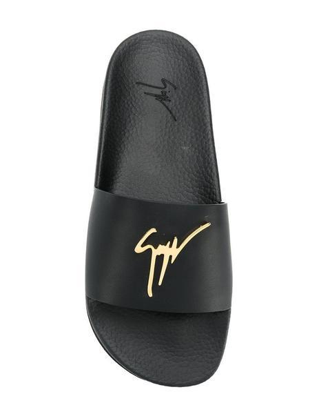 Giuseppe Zanotti Logo Plaque Slides - Black