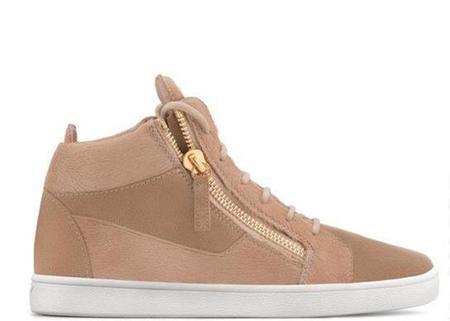 Giuseppe Zanotti Jamie High-Top Sneaker - Beige