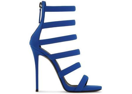 Giuseppe Zanotti Neoprene Strappy Sandal - Electric Blue