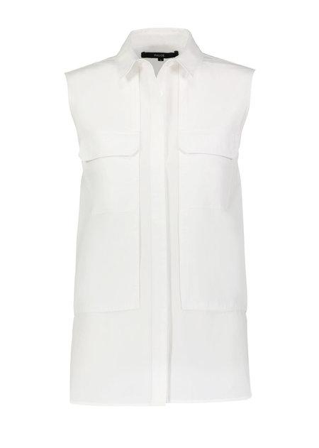 Pause. Jane Sleeveless Utility Shirt - white