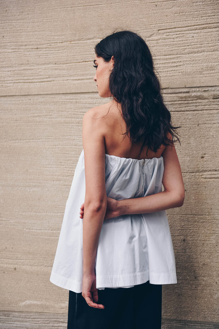 Pause. Elizabeth Flare Tube Top - white