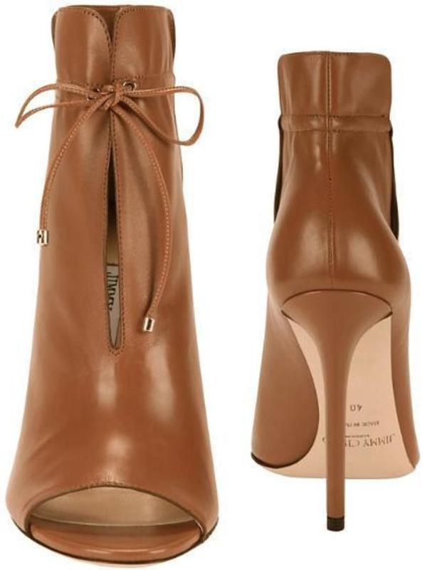 a713c5aff32 Jimmy Choo Memphis 100 Soft Leather Ankle Bootie - Canyon.  995.00 590.00. JIMMY  CHOO