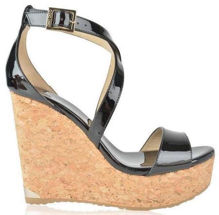Jimmy Choo Portia 120 Wedge Sandals - Black
