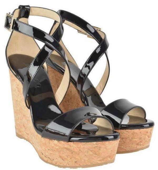 f73dcb71ed8 Jimmy Choo Portia 120 Wedge Sandals - Black.  525.00. JIMMY CHOO