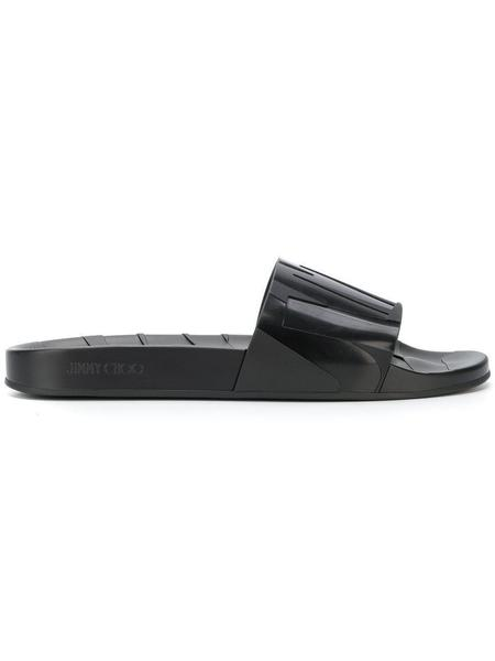 JIMMY CHOO Rey Slides - Black