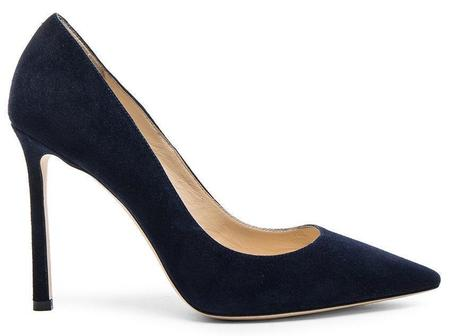 Jimmy Choo Romy 100 Suede Pumps - Navy