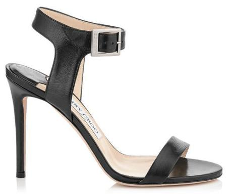 Jimmy Choo Truce 100 Kid Leather Sandals - Black