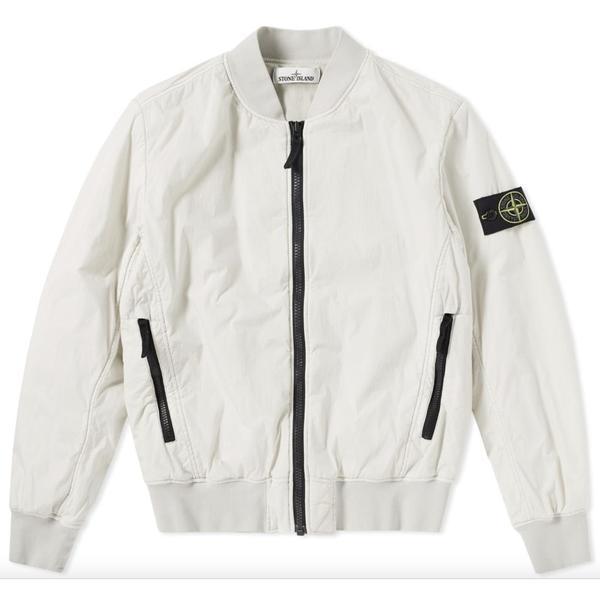 dfa84f7ce Stone Island Garment Dyed Crinkle Reps NY Bomber Jacket - Beige on  Garmentory