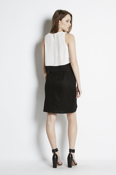 Charles Henry Chiffon Cropped Top