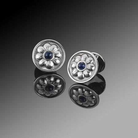 Buccellati Cufflinks - Silver/Black Onyx