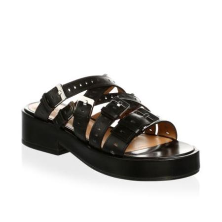 Robert Clergerie Fantom Platform Leather Sandals - Black