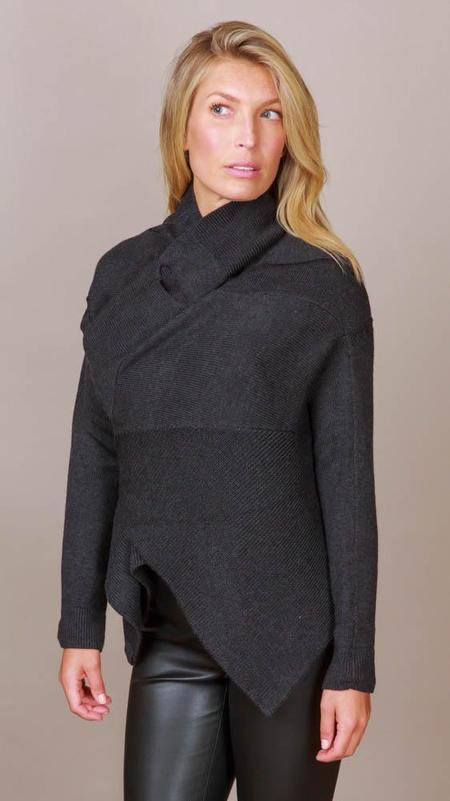 NFP Front Drape Cardigan - Charcoal