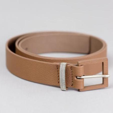 Fabiana Filippi Leather Belt - Cappuccino
