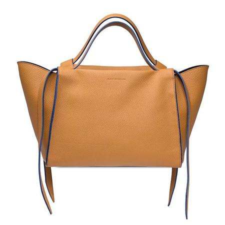 Elena Ghisellini Usonia M Leather Handbag - Honey