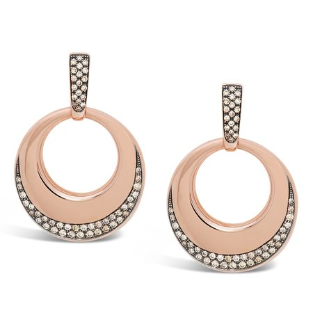 Diamond Dream Signature Collection Door Knocker Earrings - Rose Gold