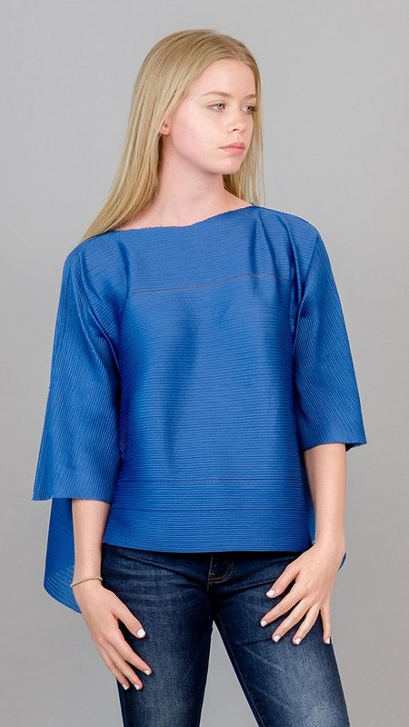 Issey Miyake Start A-Poc Pleats Top - Blue