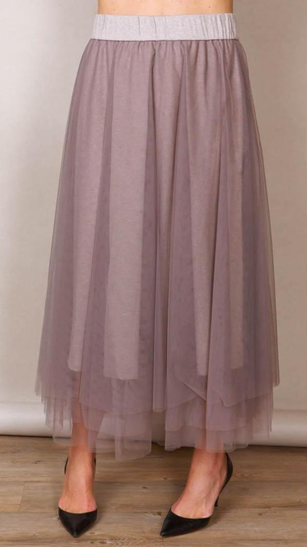 5ca6fe8978 Peserico Tulle Maxi Skirt - Taupe | Garmentory