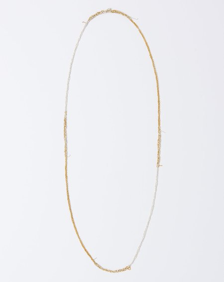 Arielle De Pinto Four Tone Simple Necklace - Silver/Gold
