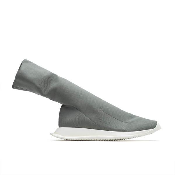rick owens drkshdw runner stretch sock low sneaker grey garmentory