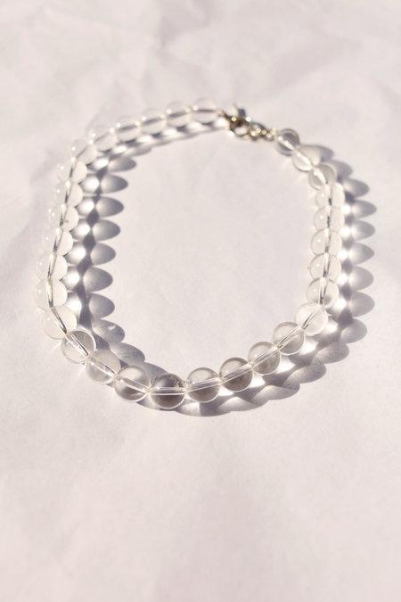 Alexa De La Cruz Lucite Quartz Necklace - Clear