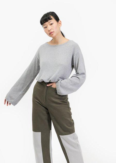 Kowtow Light Lakeside Sweater - Grey Marle