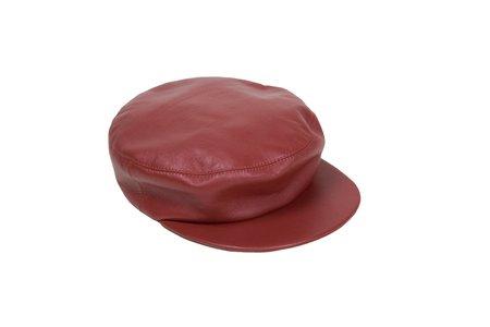 Clyde Lambskin Acton Hat - Cognac