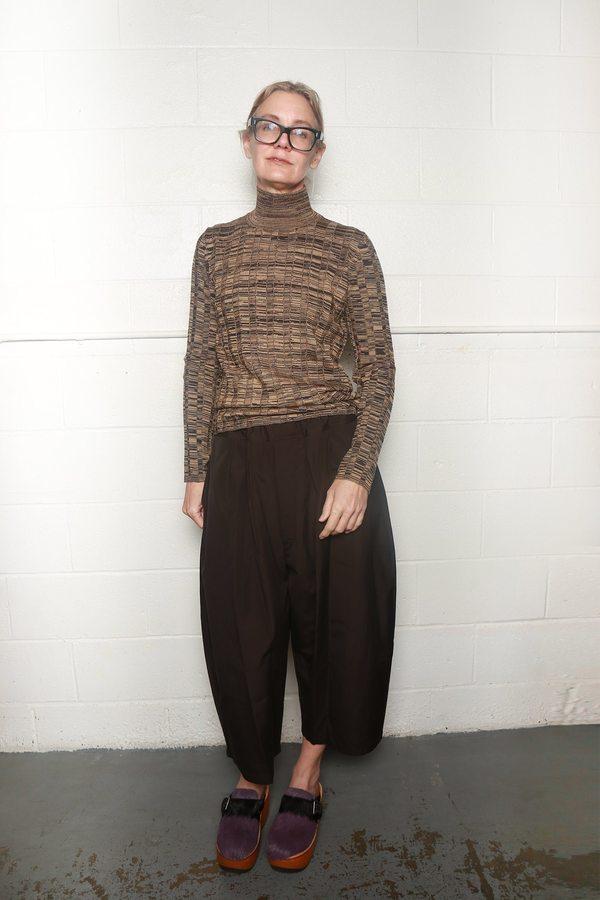 e544fb2b Marni Cotton Poplin Trouser - Metal Brown   Garmentory