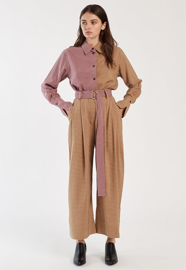 Mr. Larkin Babette Pant - Mustard Plaid