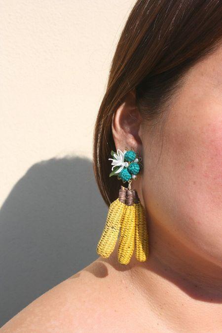 MERCEDES SALAZAR Bananas Earrings - Yellow