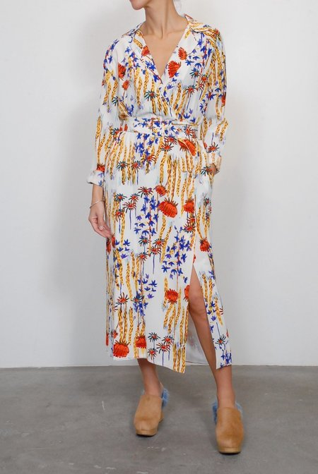 Rachel Comey Silk Sunder Dress - Multi Cactus Flower