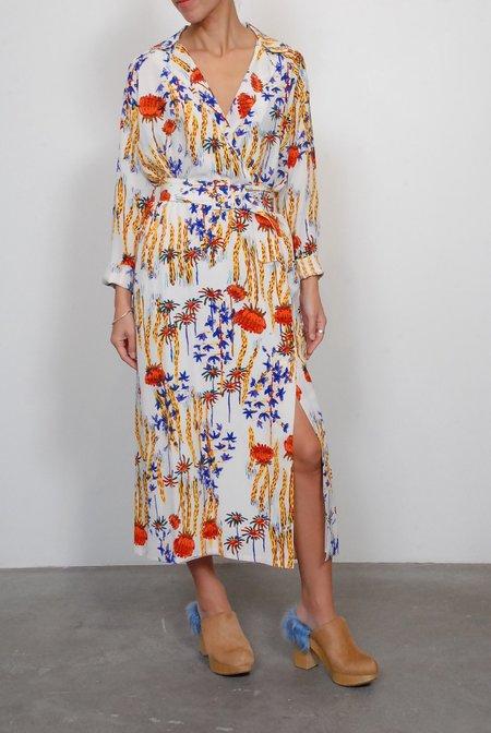 Rachel Comey Silk Sunder Dress - Multi Cactus Flower