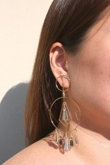 MERCEDES SALAZAR Crystal Drop Earrings - Gold