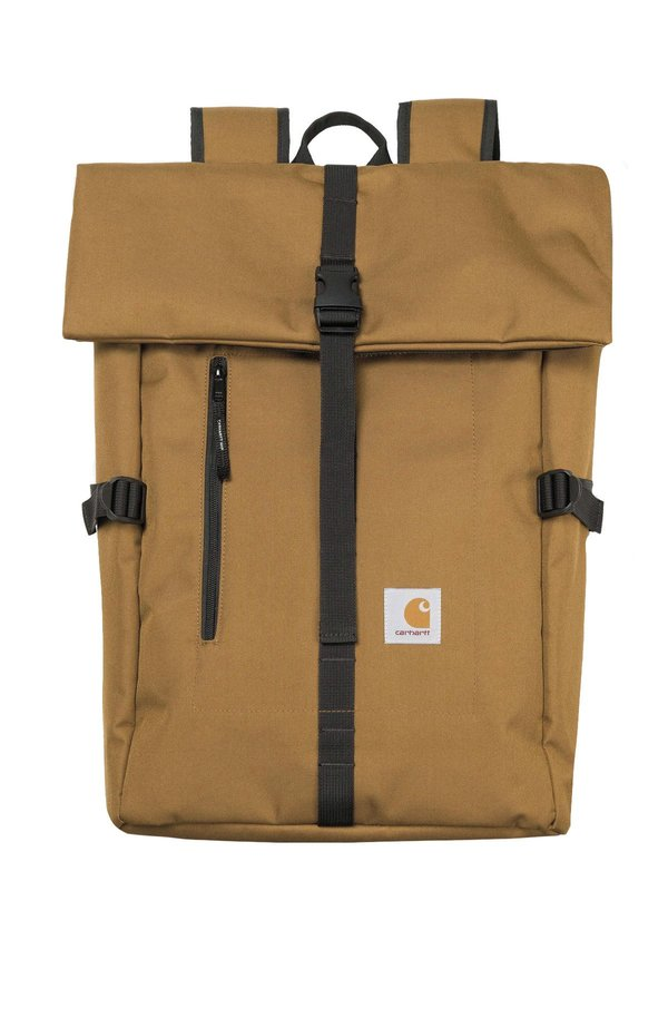 Carhartt WIP Roll Top Canvas Backpack - Hamilton Brown