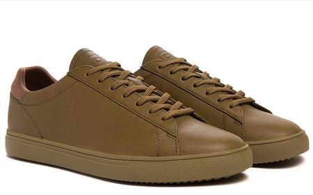 Clae Bradley Leather Sneakers - Olive