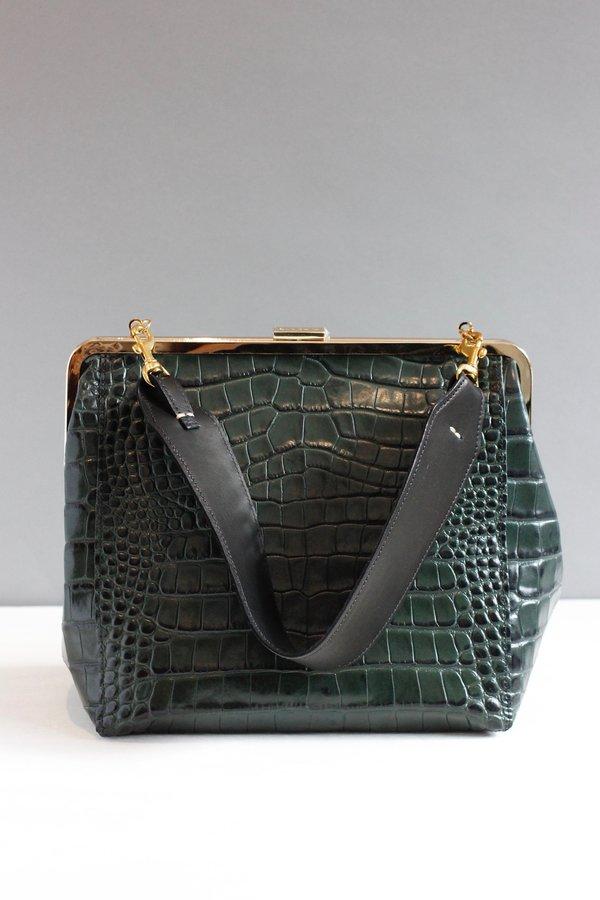 148e7093d Clare V. Crocodile Le Big Box Bag - Green | Garmentory